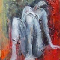 Tabula Rasa III, Priscille Deborah, artiste peintre expressionniste sensualiste