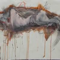 Sous la rose III, Priscille Deborah, artiste peintre expressionniste sensualiste