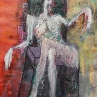 Tabula rasa IV, Priscille Deborah artiste peintre expressionniste sensualiste