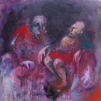 Demain j'irai voir la mer, Priscille Deborah artiste peintre expressionniste sensualiste