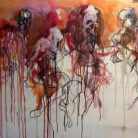 Ondines, Priscille Deborah artiste peintre expressionniste sensualiste