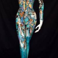 Popeline d'Egypte I, Priscille Deborah artiste peintre expressionniste sensualiste