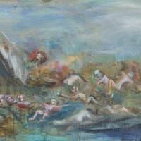 Les naufragés de Turannos II, Priscille Deborah artiste peintre expressionniste sensualiste