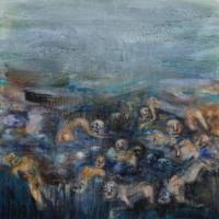 Le pays des oubliés I, Priscille Deborah artiste peintre expressionniste sensualiste