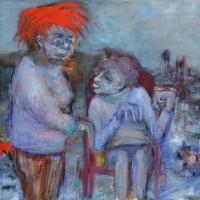 Qui a peur du grand méchant loup, Priscille Deborah artiste peintre expressionniste sensualiste