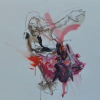 Alive #17, Priscille Deborah artiste peintre expressionniste sensualiste