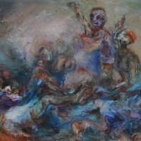 La vie sauve, Priscille Deborah artiste peintre expressionniste sensualiste