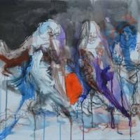 Entre chien et loup, Priscille Deborah artiste peintre expressionniste sensualiste