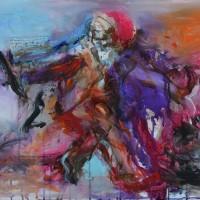 La danse d'Oshun, Priscille Deborah artiste peintre expressionniste sensualiste