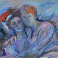 Sans toi ni moi, Priscille Deborah artiste peintre expressionniste sensualiste