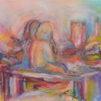 Horizons lointains, Priscille Deborah artiste peintre expressionniste sensualiste