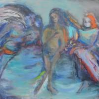 Il est temps d'aller rallumer les étoiles, Priscille Deborah artiste peintre expressionniste sensualiste