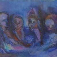 Le jugement dernier, Priscille Deborah artiste peintre expressionniste sensualiste
