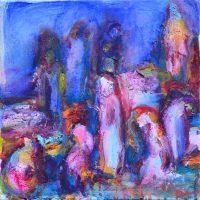 Désorientales I, Priscille Deborah artiste peintre expressionniste sensualiste