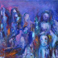Désorientales IV, Priscille Deborah artiste peintre expressionniste sensualiste