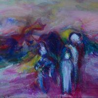 L'autre bout du monde, Priscille Deborah artiste peintre expressionniste sensualiste