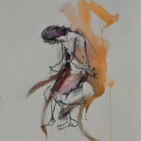 Sanguine #II, Priscille Deborah artiste peintre expressionniste sensualiste