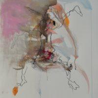 Sanguine #III, Priscille Deborah artiste peintre expressionniste sensualiste