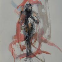 Sanguine #IV, Priscille Deborah artiste peintre expressionniste sensualiste