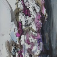 Sanguine #IX, Priscille Deborah artiste peintre expressionniste sensualiste