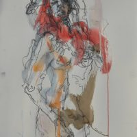 Sanguine #VI, Priscille Deborah artiste peintre expressionniste sensualiste