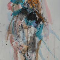 Sanguine #VII, Priscille Deborah artiste peintre expressionniste sensualiste