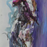 Sanguine #VIII, Priscille Deborah artiste peintre expressionniste sensualiste