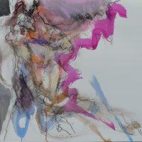 Sanguine #X, Priscille Deborah artiste peintre expressionniste sensualiste