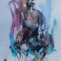 Sanguine #XI, Priscille Deborah artiste peintre expressionniste sensualiste