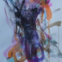 Sanguine #XIX, Priscille Deborah artiste peintre expressionniste sensualiste