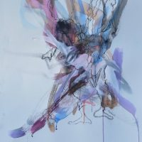 Sanguine #XV, Priscille Deborah artiste peintre expressionniste sensualiste