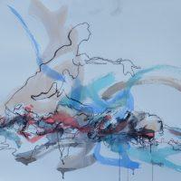 Sanguine #XVII, Priscille Deborah artiste peintre expressionniste sensualiste