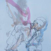 Sanguine #XX, Priscille Deborah artiste peintre expressionniste sensualiste