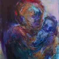 Des profondeurs de mon silence, Priscille Deborah artiste peintre expressionniste sensualiste