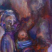 Le château de verre, Priscille Deborah artiste peintre expressionniste sensualiste