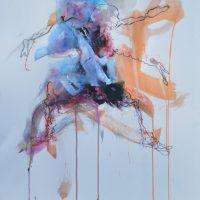 Sanguine #XII, Priscille Deborah artiste peintre expressionniste sensualiste