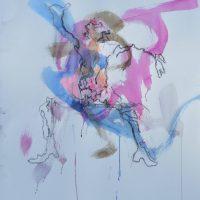 Sanguine #XIV, Priscille Deborah artiste peintre expressionniste sensualiste