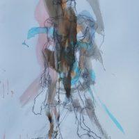 Sanguine #XVI, Priscille Deborah artiste peintre expressionniste sensualiste