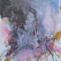 Sanguine #XVIII, Priscille Deborah artiste peintre expressionniste sensualiste