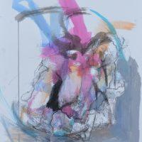 Sanguine #XXI, Priscille Deborah artiste peintre expressionniste sensualiste