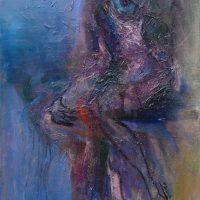 La petite fille oubliée, Priscille Deborah artiste peintre expressionniste sensualiste