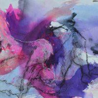 Lîle d'elle #I, Priscille Deborah artiste peintre expressionniste sensualiste