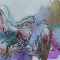 Lîle d'elle #II, Priscille Deborah artiste peintre expressionniste sensualiste