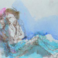 Lîle d'elle #III, Priscille Deborah artiste peintre expressionniste sensualiste