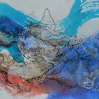 Lîle d'elle #IV, Priscille Deborah artiste peintre expressionniste sensualiste