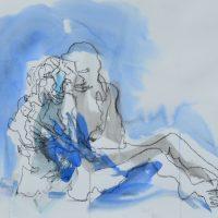 Lîle d'elle #IX, Priscille Deborah artiste peintre expressionniste sensualiste