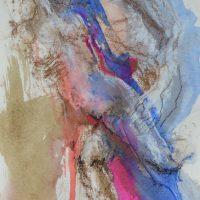 Lîle d'elle #V, Priscille Deborah artiste peintre expressionniste sensualiste