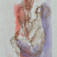 Lîle d'elle #VI, Priscille Deborah artiste peintre expressionniste sensualiste