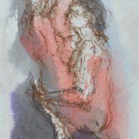 Lîle d'elle #VII, Priscille Deborah artiste peintre expressionniste sensualiste