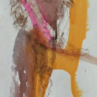 Lîle d'elle #VIII, Priscille Deborah artiste peintre expressionniste sensualiste